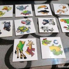 Pegatinas de colección: PEGATINAS ANIMALES PIEZAS ASPIL 10 MODELOS (COLECCIÓN COMPLETA). Lote 290146443