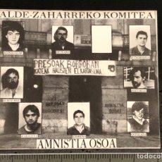 Autocolantes de coleção: PEGATINA ALDE-ZAHARREKO KOMITEA POLÍTICA EUSKADI. Lote 267660599