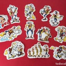 Autocolantes de coleção: COLECCION DE 12 PEGATINAS DE LUCKY LUKE AÑOS 80 NUEVO - LOTE RESERVADO. Lote 271035763