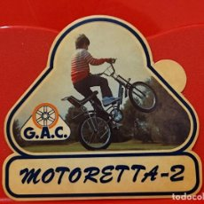 Pegatinas de colección: G.A.C MOTORETTA 2 BICICLETA BICICROSS PEGATINA 9,5 X 10 CMS SIN PEGAR NUNCA AMARILLENTA *. Lote 271538943