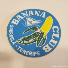 Autocollants de collection: PEGATINA DISCOTECA BANANA CLUB (TENERIFE). Lote 273422383