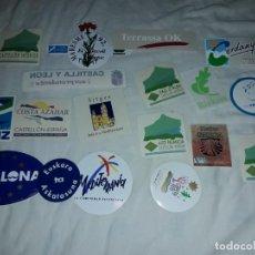 Pegatinas de colección: LOTE DE 18 PEGATINAS CIUDADES ESPAÑOLAS. Lote 274638973