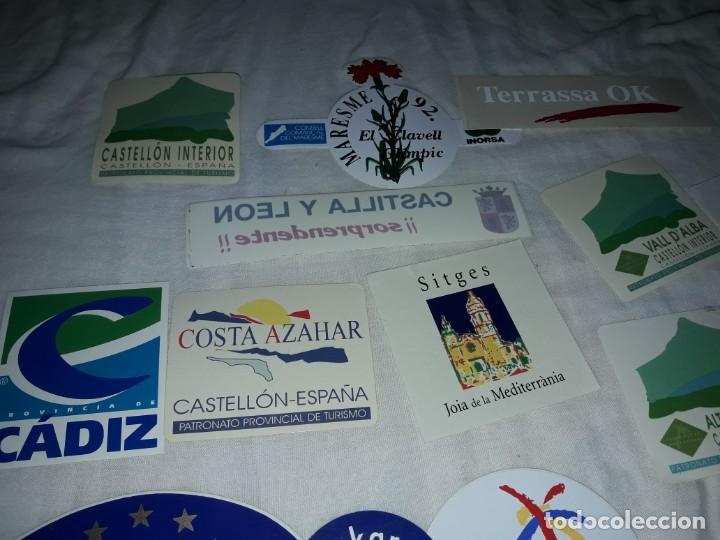 Pegatinas de colección: Lote de 18 pegatinas ciudades Españolas - Foto 2 - 274638973