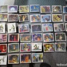 Pegatinas de colección: COLECCION 39 PEGATINAS SHREK JÚVER. Lote 290146683