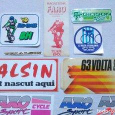 Autocolantes de coleção: PEGATINAS BICICLETAS CICLISMO.VOLTA CICLISTA CATALUNYA.TRIALSIN.BH.MAGATZEMS FARO TEAM BMX.ADHESIVOS. Lote 275994878