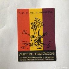 Autocollants de collection: PEGATINA POLÍTICA TRANSICIÓN. Lote 277117903
