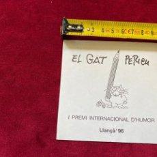 Pegatinas de colección: ADHESIVO 1996 PERICH, I PREMI INTERNACIONAL D'HUMOR.3,18 ENVÍO CERTIFICADO.. Lote 277177758