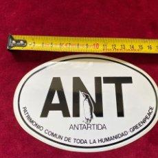 Pegatinas de colección: ADHESIVO ANTÁRTIDA GREENPEACE, VER FOTO.3,18 ENVÍO CERTIFICADO.. Lote 277178203