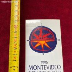 Pegatinas de colección: ADHESIVO 1996 MONTEVIDEO (URUGUAY), VER FOTO.3,18 ENVÍO CERT.. Lote 277179278