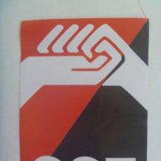 Pegatinas de colección: PEGATINA POLITICA : CGT - ANARQUISMO , CONFEDERACION GENERAL DEL TRABAJO . 1º MAYO. Lote 277676983