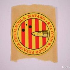 Pegatinas de colección: CLUB PETANCA - SIGLO XX CERDANYOLA MATARÓ - PEGATINA 7,3CM DE DIÁMETRO.. Lote 278340243