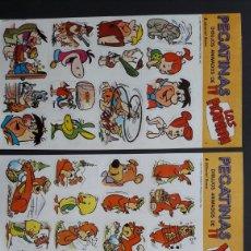 Pegatinas de colección: 10 LÁMINAS PEGATINAS HANNA BARBERA 1985. Lote 278690728