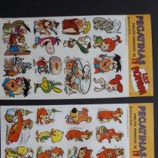 Pegatinas de colección: 10 LÁMINAS PEGATINAS HANNA BARBERA. 1985. Lote 278691253