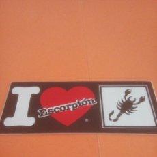 Pegatinas de colección: PEGATINA - ADHESIVO - STICKERS - I LOVE ESCORPIÓN - ZODIACO. Lote 278693273