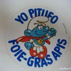 Adesivi di collezione: PEGATINA DE YO PITUFO FOIE-GRAS APIS. Lote 286955208