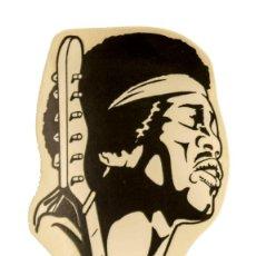 Pegatinas de colección: PEGATINA STICKERS MUSIC DE LOS AÑOS 80,90 - JIMI HENDRIX. Lote 287996453