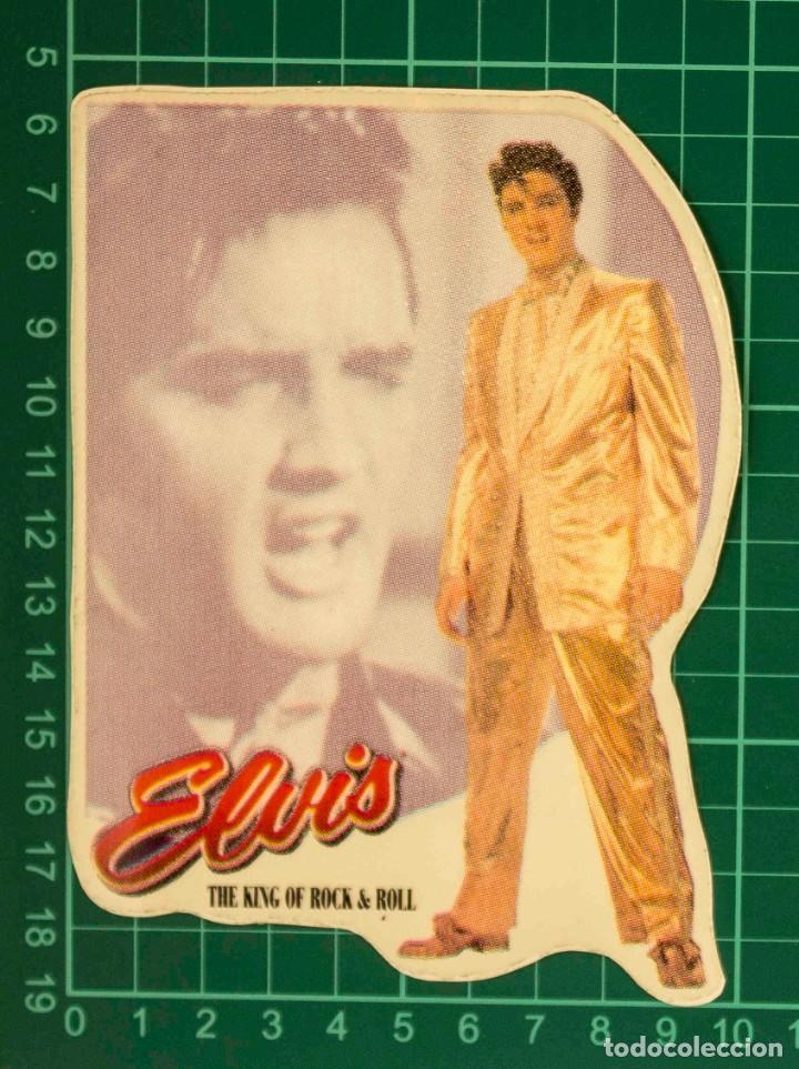 Pegatinas de colección: Pegatina Stickers music de los años 80,90 - Elvis - the king of rock & roll - Foto 2 - 287997728