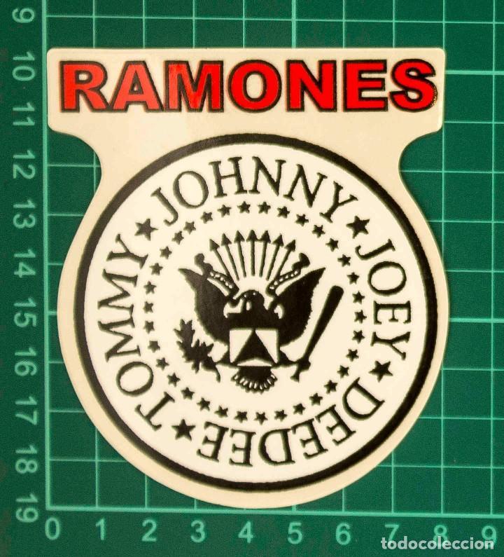 Pegatinas de colección: Pegatina Stickers music de los años 80,90 - Ramones - Foto 2 - 287999513