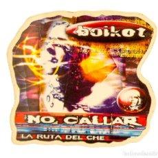 Pegatinas de colección: PEGATINA STICKERS MUSIC DE LOS AÑOS 80,90 - BOIKOT. Lote 287999888