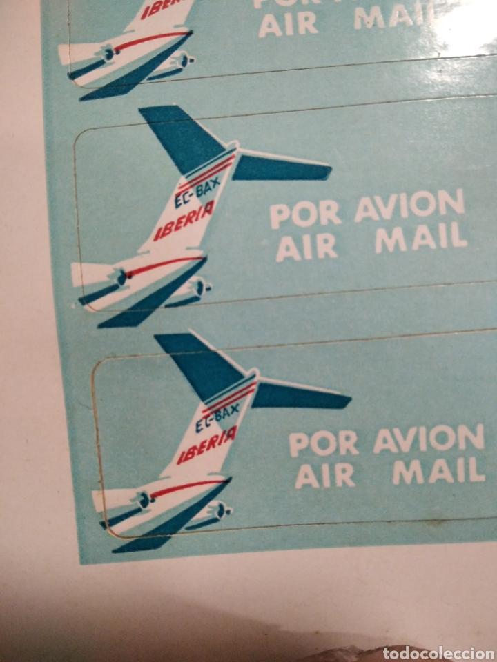 Pegatinas de colección: Pegatinas Iberia por avión air mail - Foto 3 - 288001143