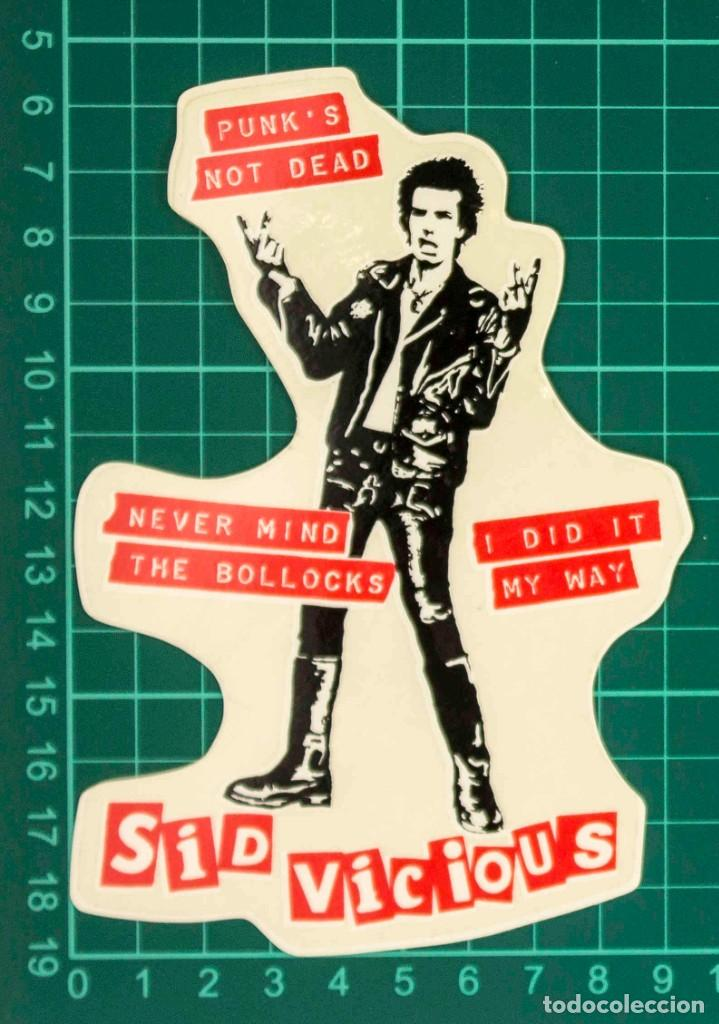 Pegatinas de colección: Pegatina Stickers music de los años 80,90 - Sid vicious - Foto 2 - 288001583