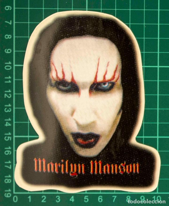 Pegatinas de colección: Pegatina Stickers music de los años 80,90 - Marilyn manson - Foto 2 - 288002848
