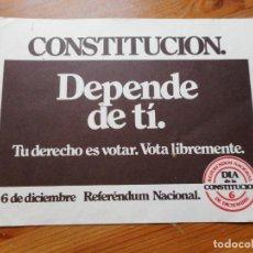 Autocollants de collection: ANTIGUA PEGATINA POLITICA.REFERENDUM NACIONAL.DIA DE LA CONSTITUCION.. Lote 288130823