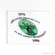 Pegatinas de colección: ADHESIVO / PEGATINA - TARRAGONA - AS. PROVINCIAL JUBILADOS Y PENSIONISTAS ANIVERSARI 1978/1998. Lote 288290898