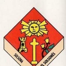 Pegatinas de colección: ADHESIVO / PEGATINA - CATALUNYA CAPS DE COMARCA - SOLSONA / EL SOLSONES - ESCUDO/ HERALDICA. Lote 288297528