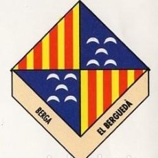 Pegatinas de colección: ADHESIVO / PEGATINA - CATALUNYA CAPS DE COMARCA - BERGA / EL BERGUEDA - ESCUDO / HERALDICA. Lote 288297668