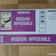 Pegatinas de colección: PEGATINA PELICULA MISION IMPOSIBLE.TOM CRUISE. Lote 291580078