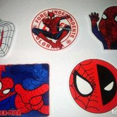 Pegatinas de colección: SPIDERMAN LOTE 5 PEGATINAS. Lote 295382983