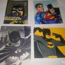Pegatinas de colección: BATMAN 4 PEGATINAS. Lote 295383383