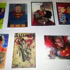 Pegatinas de colección: SUPERMAN LOTE 7 PEGATINAS. Lote 295383448