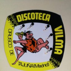 Autocolantes de coleção: ANTIGUA PEGATINA DE LA DISCOTECA VILMA - ORUSCO DE TAJUÑA (MADRID). Lote 295788858