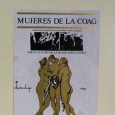Autocolantes de coleção: ANTIGUA PEGATINA DE MUJERES DE LA COAG. Lote 295794313