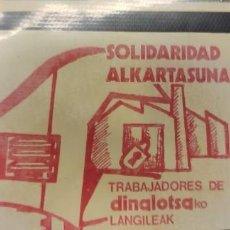 Pegatinas de colección: PEGATINA POLÍTICA TRANSICIÓN EUSKADI. Lote 295841558