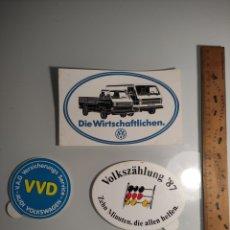 Pegatinas de colección: 3 ANTIGUAS PEGATINAS COCHES VOLKSWAGEN VOLKSZAHLUNG 87. Lote 297128208