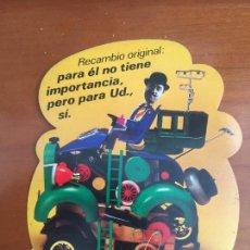 Pegatinas de colección: RECAMBIOS FIAT ADHESIVO PEGATINA ORIGINAL ANTIGUO TROQUELADO. Lote 297240873