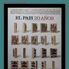 Coleccionismo de Periódico El País: EL PAIS 20 AÑOS. Lote 9204087