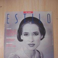 Coleccionismo de Periódico El País: REVISTA ESTILO EL PAIS (19-5-1990). Lote 3365632