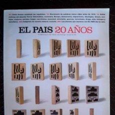 Coleccionismo de Periódico El País: EL PAIS SEMANAL - ESPECIAL 20 AÑOS - Nº 1023 - 1996. Lote 12053806