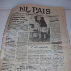 Coleccionismo de Periódico El País: DIARIO EL PAÍS: 24-10-1.982 EL GOLPE ANUNCIADO. Lote 12723711