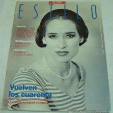 Coleccionismo de Periódico El País: SUPLEMENTO EL PAIS ESTILO-Nº 96-DOMINGO 19 AGOSTO 1990-VUELVEN LOS CUARENTA. Lote 175400013