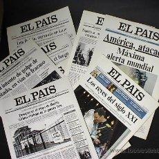 Coleccionismo de Periódico El País: LAS MEJORES PORTADAS DE EL PAÍS. 14 LÁMINAS DE CARTULINA. Lote 13983351