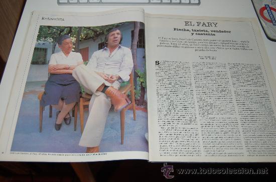 EL FARY: ENTREVISTA DE 1984 (Coleccionismo - Revistas y Periódicos Modernos (a partir de 1.940) - Periódico El Páis)