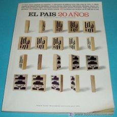 Coleccionismo de Periódico El País: EL PAIS 20 AÑOS. NUMERO EXTRA DE EL PAIS SEMANAL. Nº 1023. 5 DE MAYO DE 1996. Lote 27469010