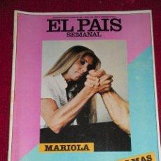 Coleccionismo de Periódico El País: REVISTA EL PAIS SEMANAL - NUM: 235 -11 OCTUBRE 1981- MARIOLA Y CINCO PULSOS MAS. Lote 27108431
