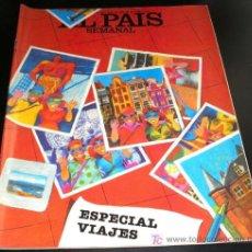 Coleccionismo de Periódico El País: REVISTA EL PAIS SEMANAL - NUM: 322 - 12 JUNIO 1983-ESPECIAL VIAJES. Lote 26187443