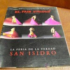 Coleccionismo de Periódico El País: REVISTA EL PAIS SEMANAL AÑO 1996 SAN ISIDRO Y ADEMÁS RICHARD AVEDON,ESCUTERES 2 RUEDAS Y... Lote 27592024